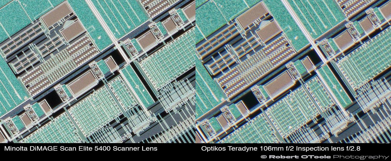 Minolta-DiMAGE-Scan-Elite-5400-Scanner-Lens-vs-Optikos-Teradyne-106mm-f2-Inspection-lens-at-2.25x-corners-Robert-OToole-Photography.JPG