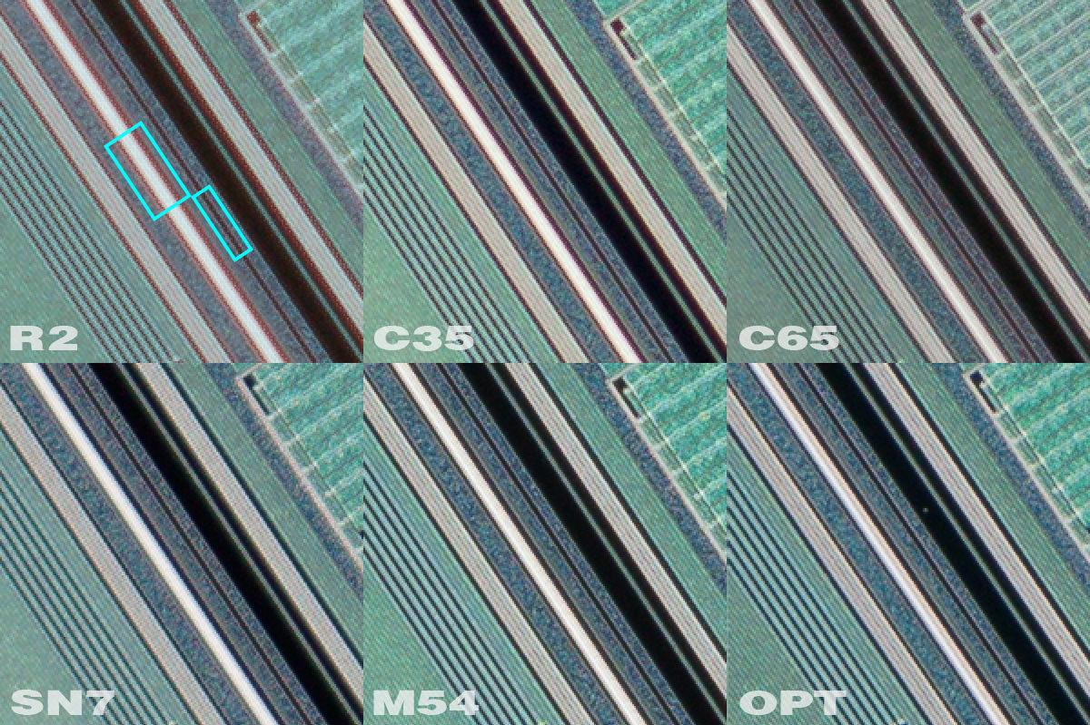 Top row, left to Right; Rodenstock APO 75mm 2x, Canon MP 35mm, Canon MP-E 65mm, bottom row, left to right; Scanner Nikkor ED 7, Minolta 5400, Optikos Teradyne 106mm f/2 Inspection Lens