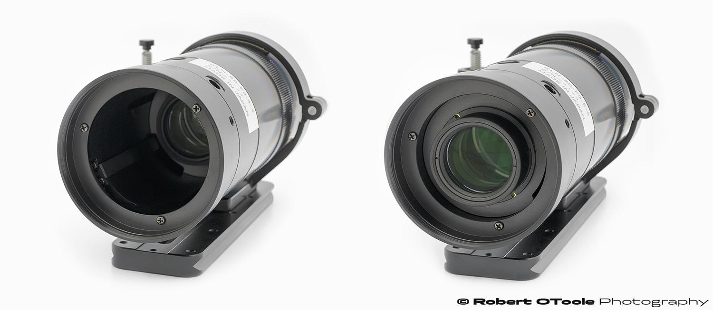 Kubotek Optics 80mm f/3.5 line scan lens at minimum and maximum magnification settings
