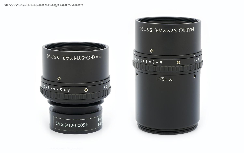 Schneider Makro-Symmar 120mm f/5.6 line scan lens with the Schneider M 42 x 1 to V38 Extension tube.
