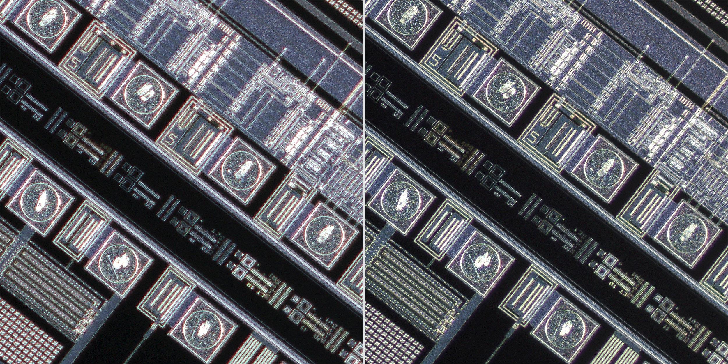 Canon MP-E 65mm f/2.8 1-5x Macro Photo lens vs Sigma 150 f2.8 OS + Xenon 28mm f2 Line Scan Lens 100% Corner Crops