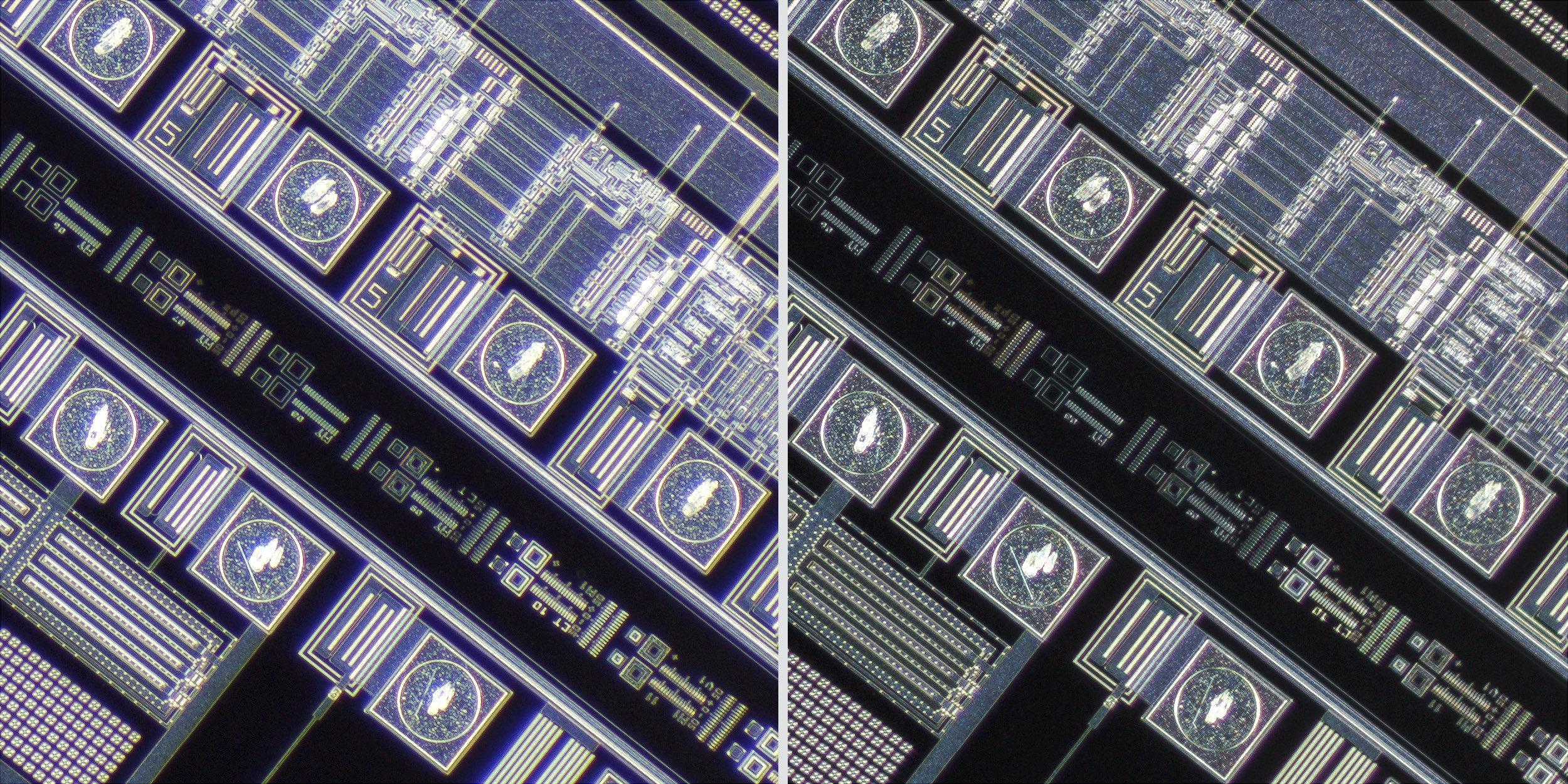 Nikon MM 5x-A EDF20052 TM objective lens vs Sigma 150 f2.8 OS + Xenon 28mm f2 Line Scan Lens 100% Corner Crops