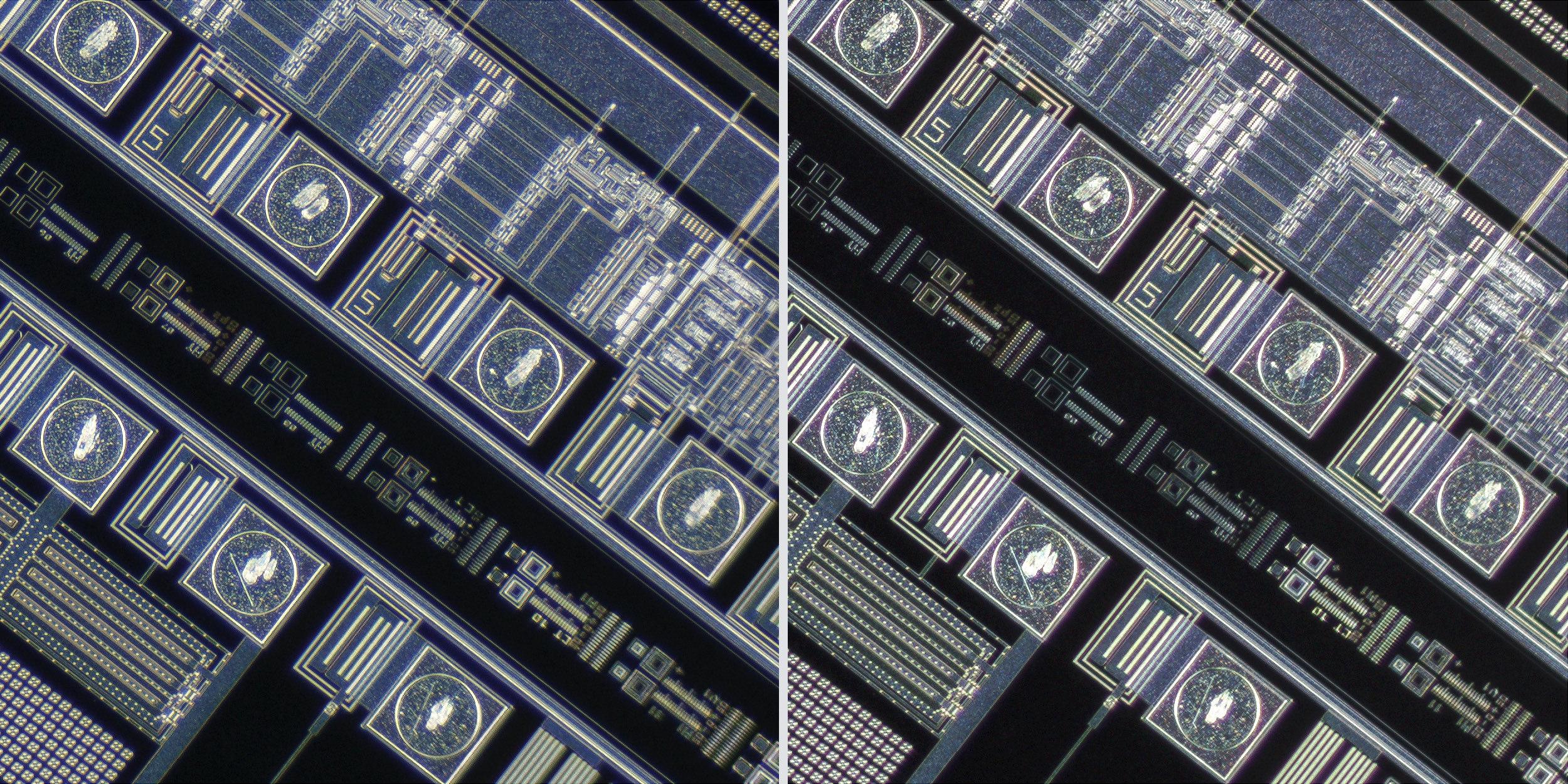 Nikon LU Plan Fluor 5X/0.15 BD Objective vs Sigma 150 f2.8 OS + Xenon 28mm f2 Line Scan Lens 100% Corner Crops