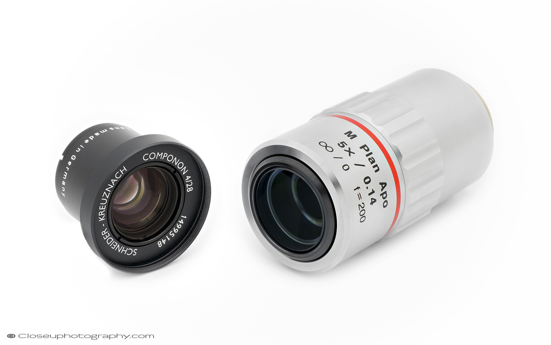 Schneider Componon 28mm f4 and the Mitutoyo M Plan APO Objective