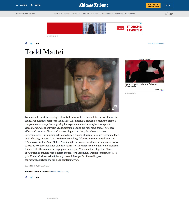 Chicago Tribune Profile