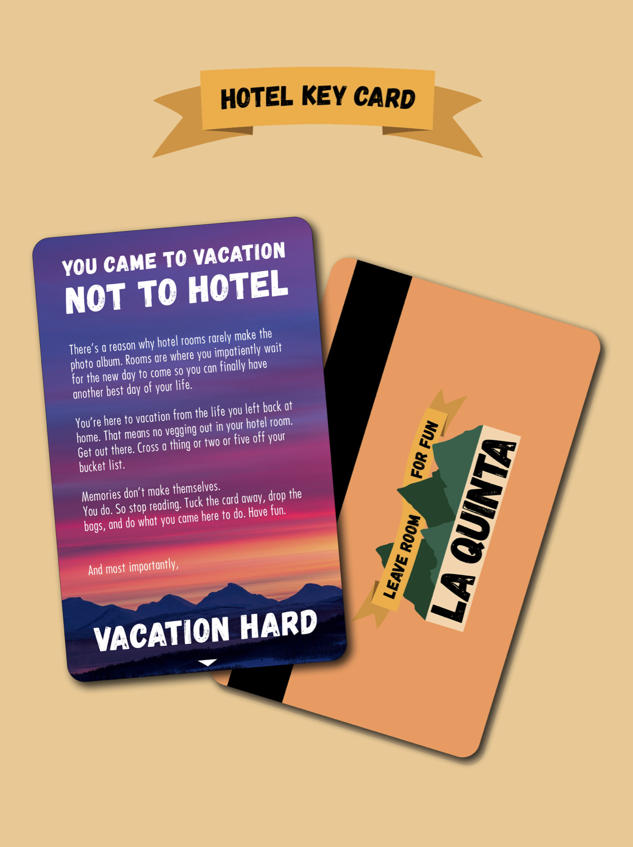 hotel key card – an ad you definitely don't want to lose