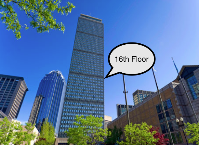 Data Recovery Guru Prudential Tower Office - 800 Boylston StSuite 1600 (16th Floor)Boston, MA 02199*Due to strict security policy, bring your ID for clearance, please!*