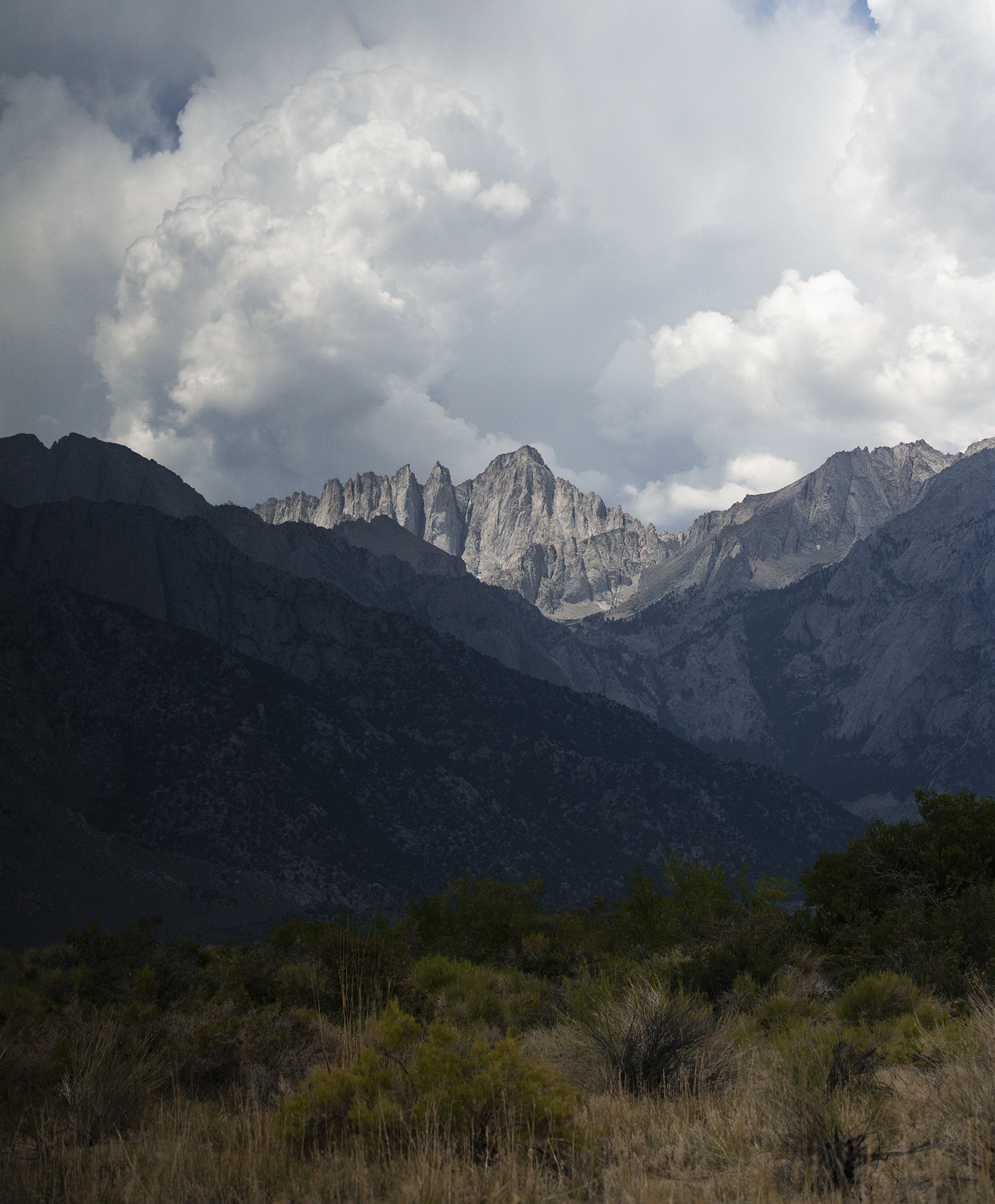 Mount Whitney's last breath before the storm