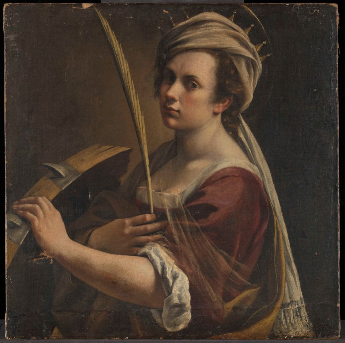 Artemisia Gentileschi,  Self Portrait as Saint Catherine of Alexandria , 1615–17. © The National Gallery, London. Courtesy of The National Gallery, London.