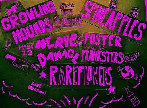 Catch The Pranksters live at underground staple, The Meatlocker in Montclair, NJ on Thursday, March 22nd. Joined by a stacked bill, including: The Growling Hounds, Spineapples, Nerve Damage & The Rareflowers, you don't want to miss this show!
