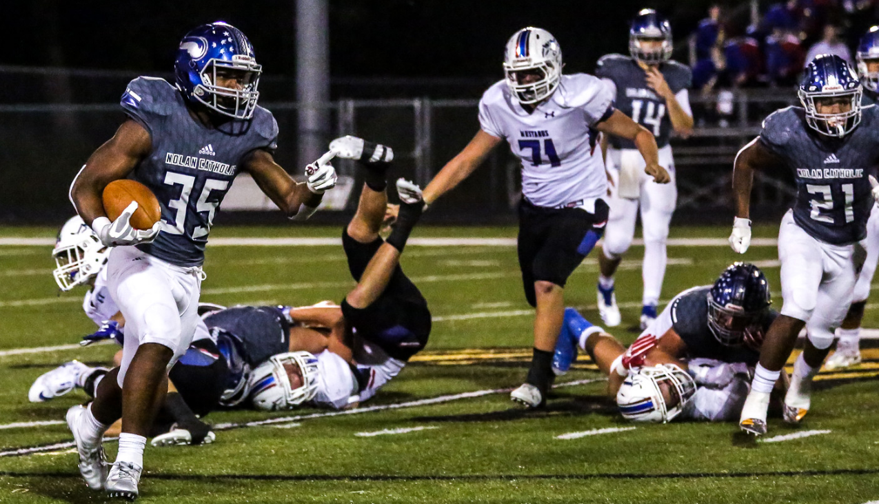 11/2 FOOTBALL WINS DISTRICT CHAMPIONSHIP WITH 31-24 VICTORY OVER CROSS TOWN RIVAL ALL SAINTS! - GAME RECAP