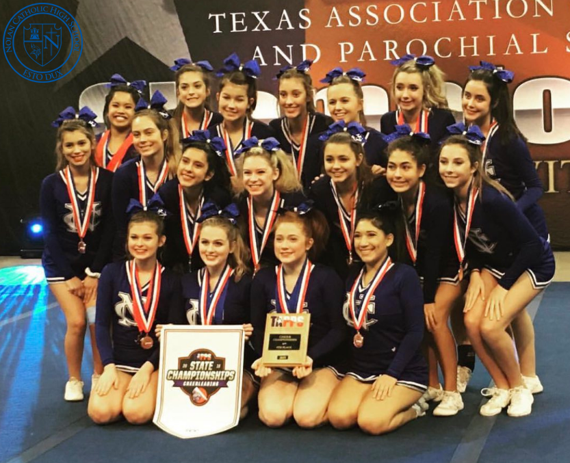 1/12 CHEER PLACES 4TH IN THE STATE CHAMPIONSHIPS! - ALL-STATE 1ST TEAM- Lauren Cannon, Maeve ClearyALL-STATE 2ND TEAM- Addison Dahmer, Nina Marquino, Hannah Rainey