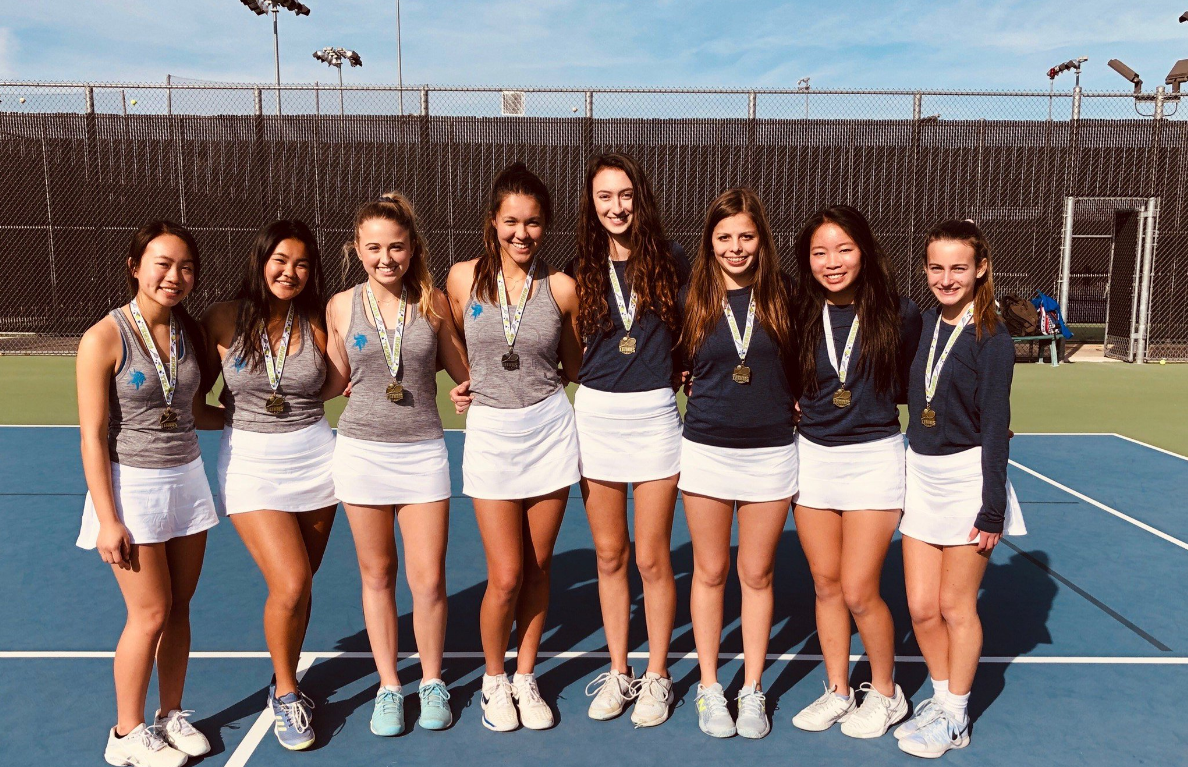GIRLS TENNIS WINS DISTRICT AS THEY GO UNDEFEATED. BOYS FINISH IN SECOND PLACE! -