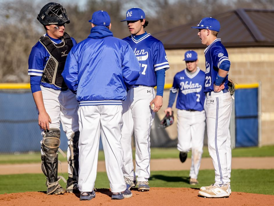 5/8 BASEBALL FALLS TO ALL SAINTS IN SECOND ROUND 2-0. -