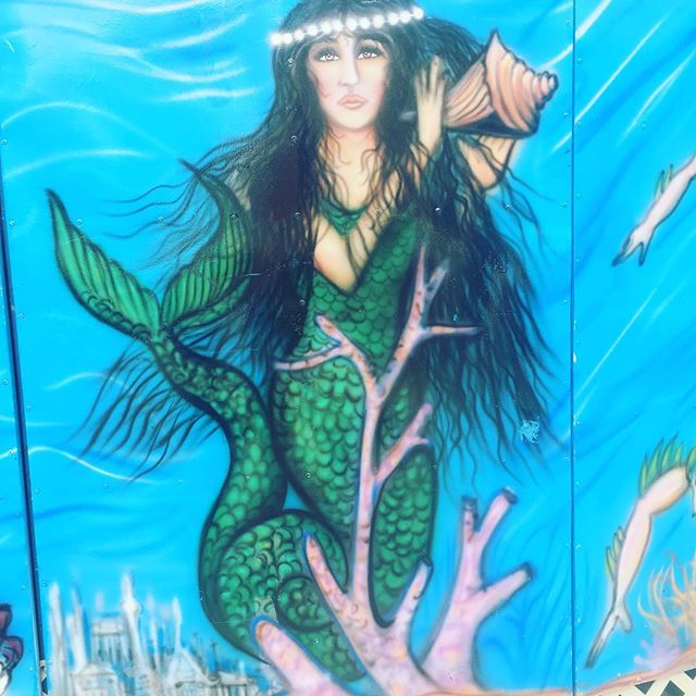 Prettiest mermaid on the block. #coneyart #greenskybookkeeping #womanownedbusiness #accounting #bookkeeping