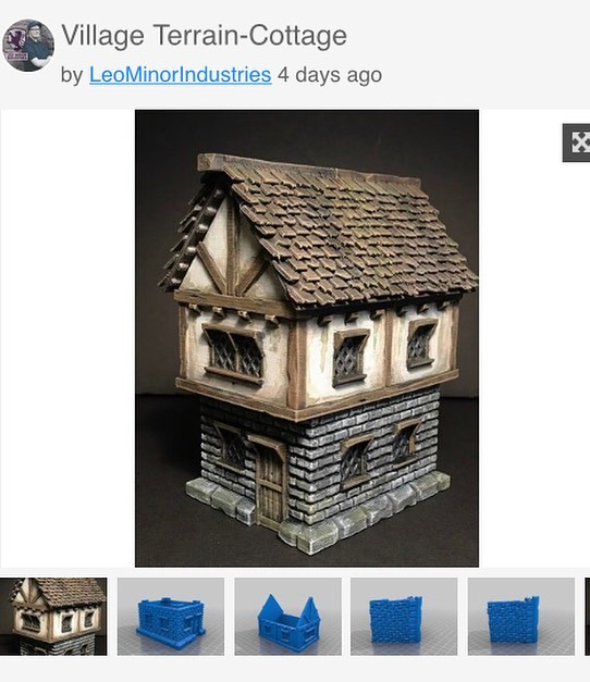 FREE! .STL of the village cottage now available for download on thingiverse! Link in the bio