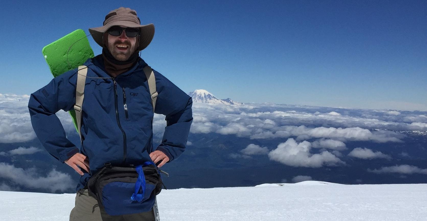 Summit of Mt. Adams, Washington, 2016