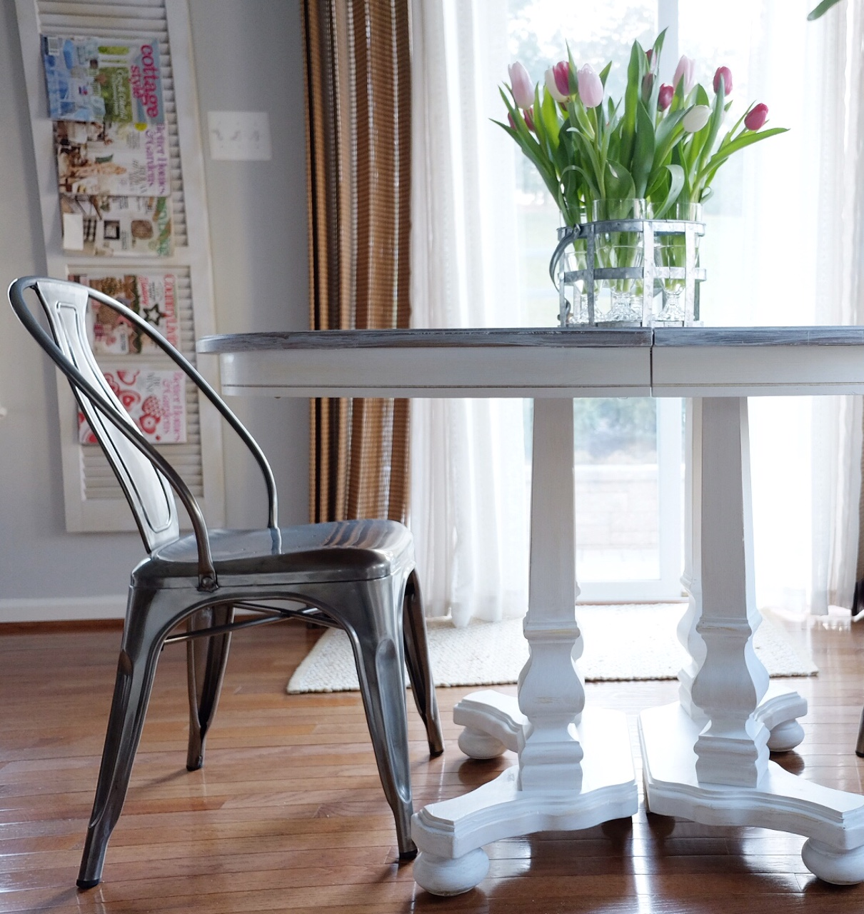 Revamp a table with homemade chalk paint.