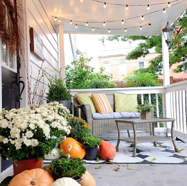 Our Downtown Rowhouse porch -Airbnb in Frederick, MD