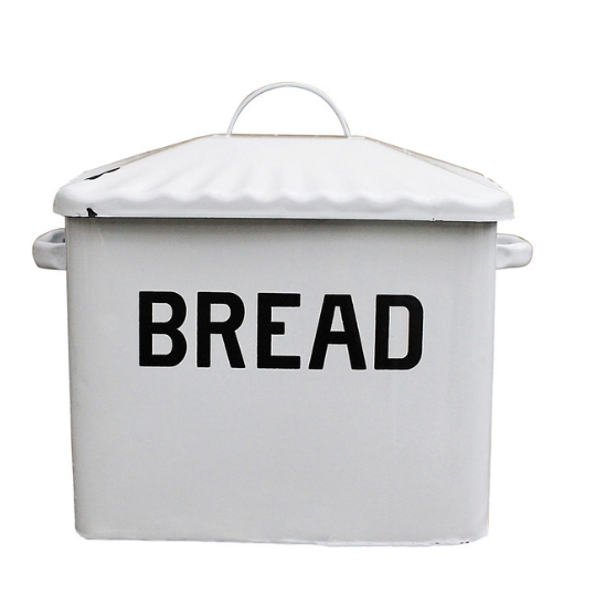 Kitchen: Enamel Bread Box