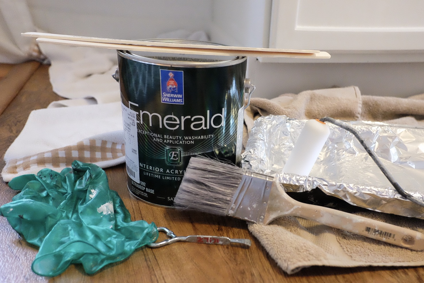 Supplies needed to paint cabinets -  Cottagestyleblog.com