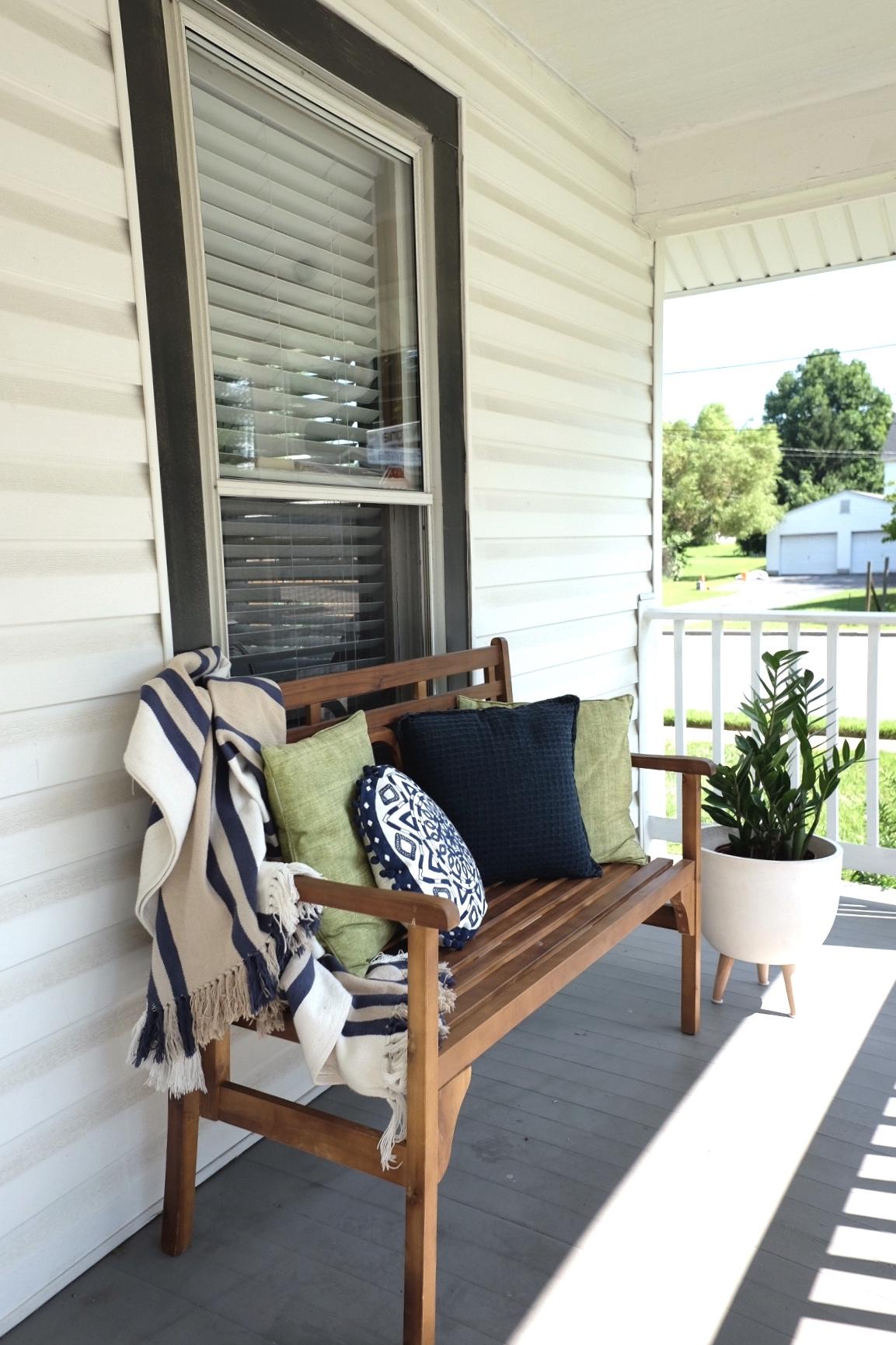 Front Porch at Our Midtown Bungalow Airbnb -   Cottagestyleblog.com