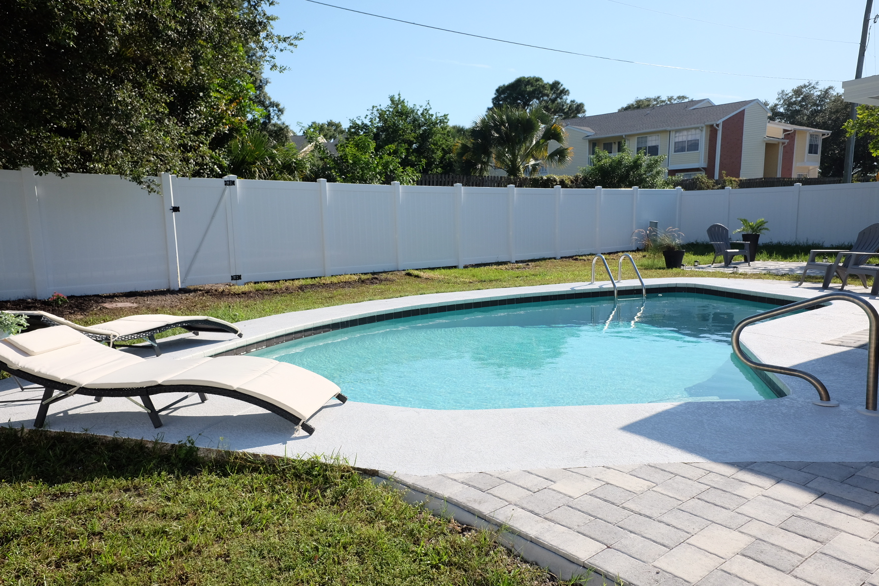 Pool Area:  Our Modern Coastal Cottage  Airbnb in Dunedin, FL