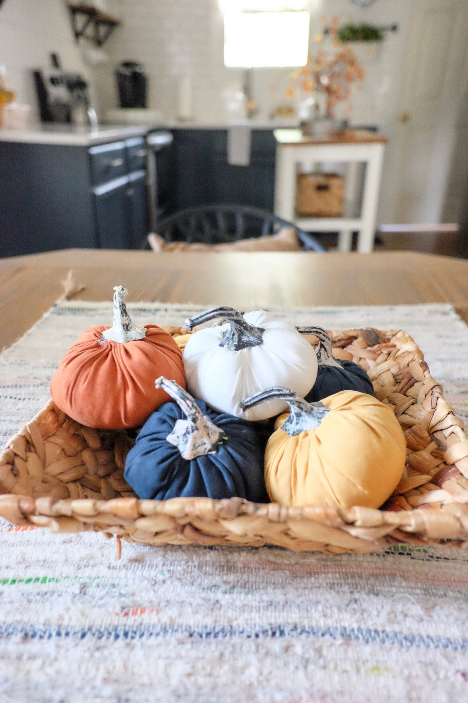 Pumpkins in a basket at our  Midtown Bungalow Airbnb .