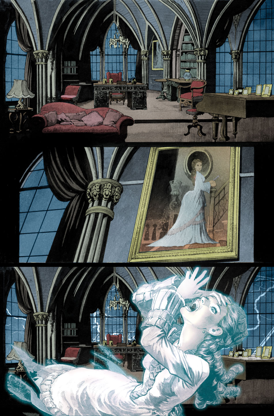 Preview of  Deadman: Dark Mansion of Forbidden Love  #1, Written by Sarah Vaughn, Illustrated by Lan Medina