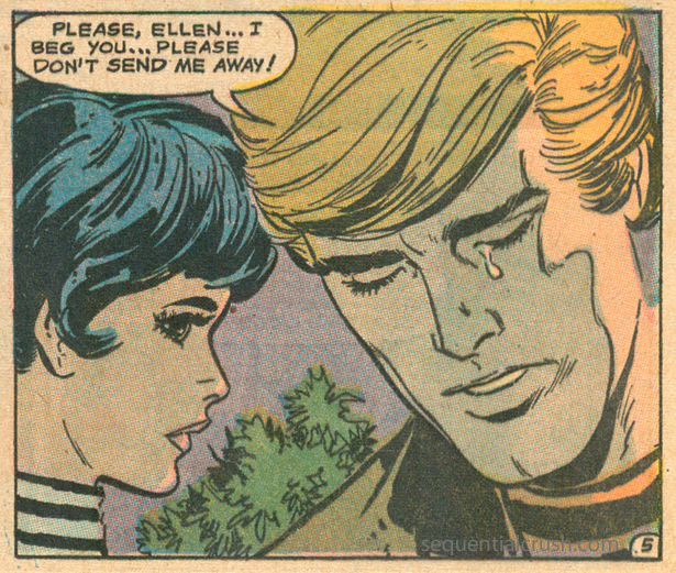 """Is Ellen cruel or just """"too old"""" as the story title implies? """"Too Old for Love!""""  Falling in Love  #122 (April 1971) Pencils: Art Saaf, Inks: Vince Colletta"""