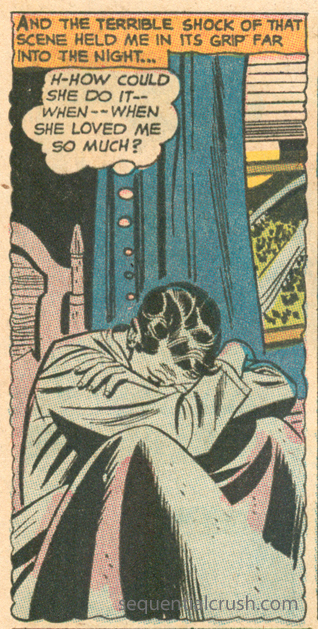 """I got nothing, here. This one actually gives me the sads """"Make Me Your Wife!""""  Young Love  #58 (November/December 1966) Pencils: Mike Sekowsky, Inks: Bernard Sachs"""