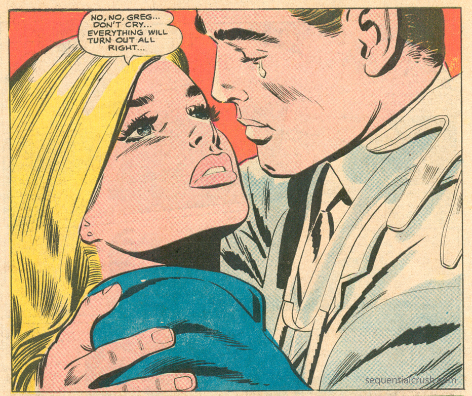 """Women are always right. Usually. Most of the time. Well, I am anyway. Just ask my fiancé. I'm sure he'll agree. Maybe? """"Reach for Happiness"""" Episode 24  Secret Hearts  #133 (January 1969) Pencils: Jay Scott Pike"""