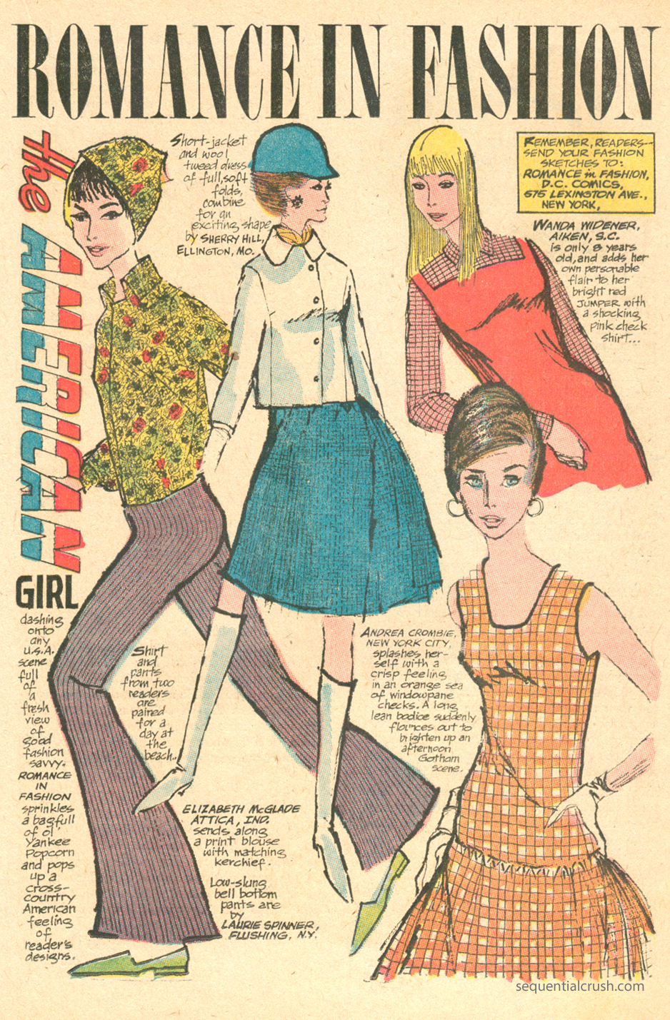 """Romance in Fashion""  Young Love  #58 (Nov/Dec 1966)"