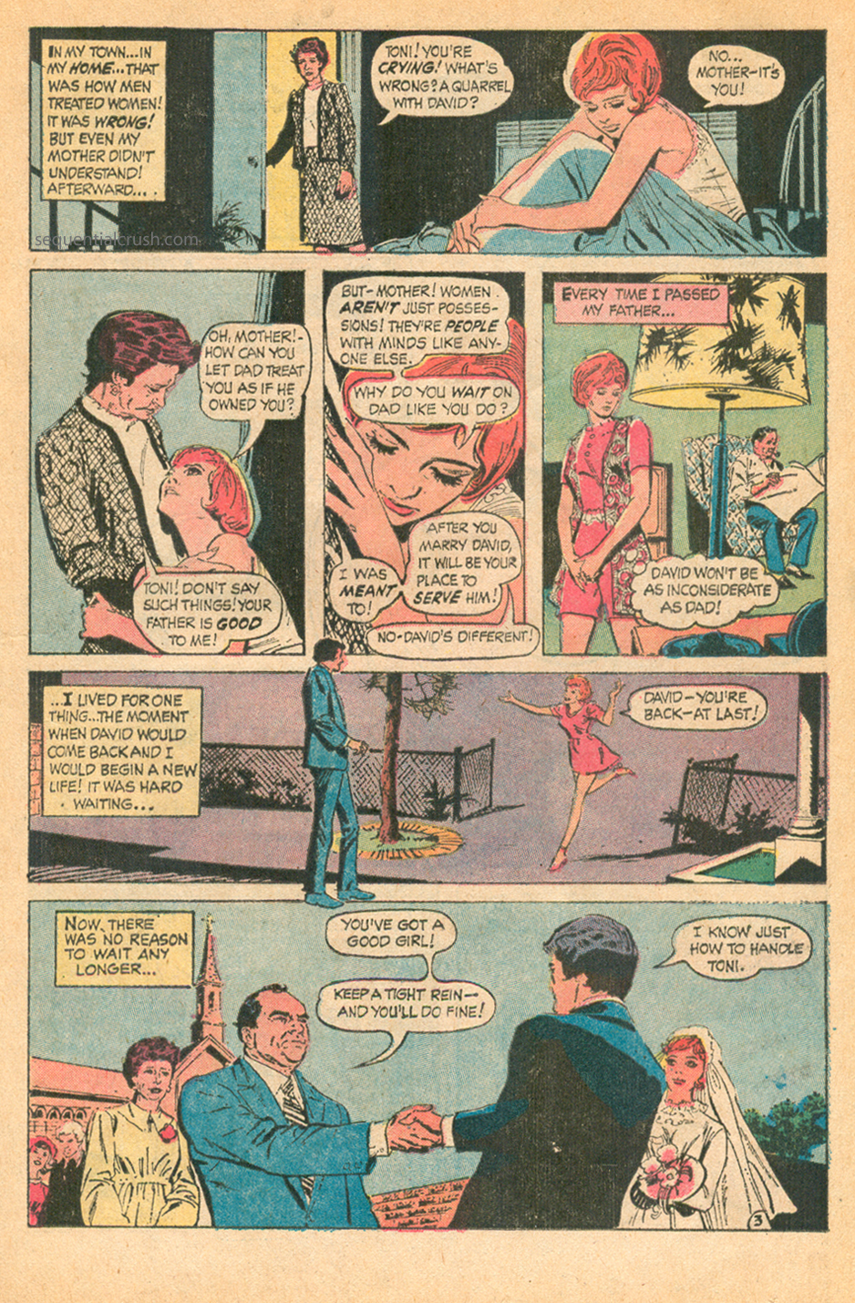 Romance comic book story I am a Woman by Tony DeZuniga