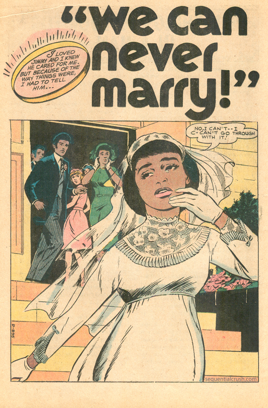 """""""We Can Never Marry!"""" from   Girls' Love Stories  #172 (August 1972)"""