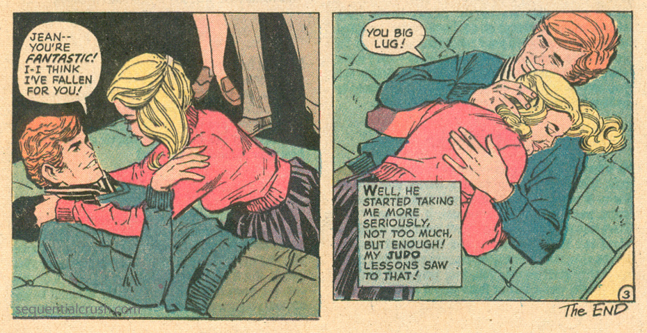 """Too Teeny Weeny to Love"" from   Girls' Love Stories   #174 (October 1972) DC Comics"