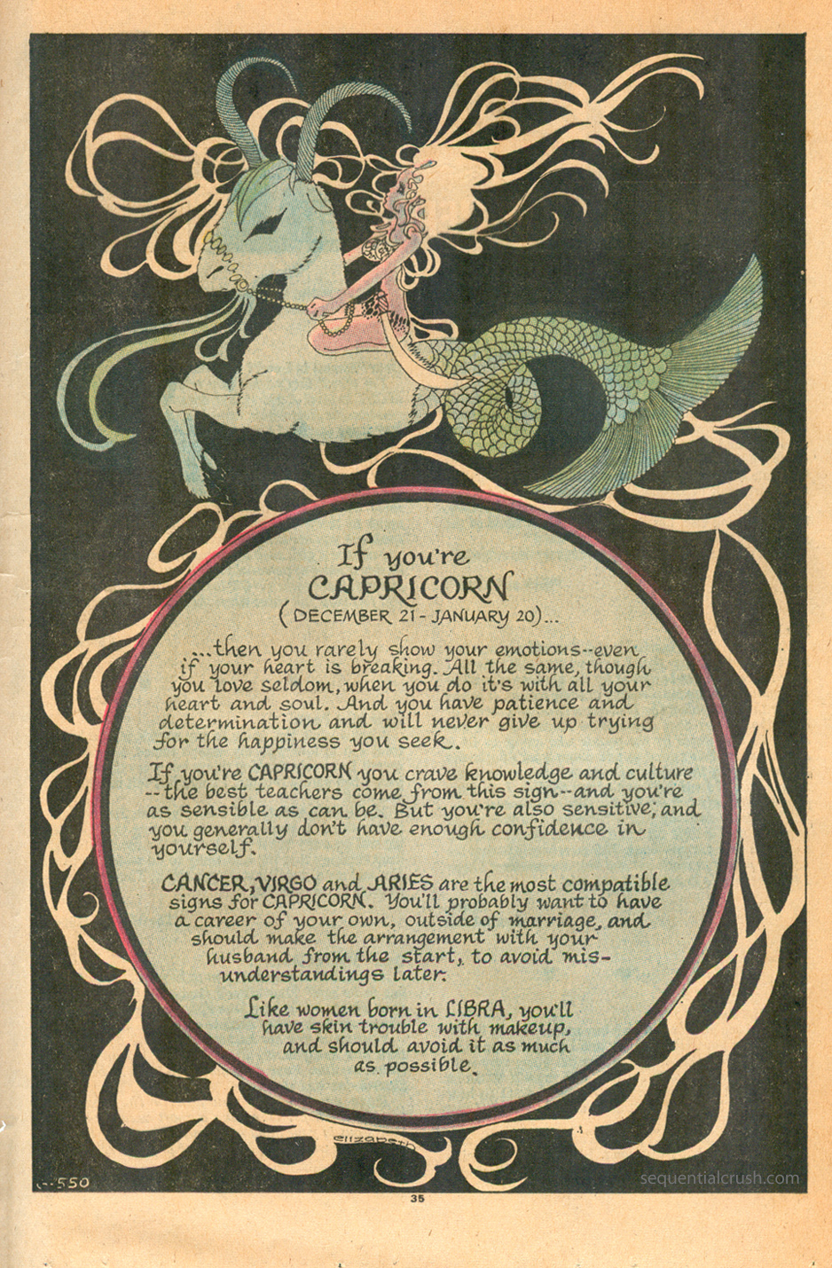"""""""If You're Capricorn""""  Young Romance  #170 (February/March 1971)"""