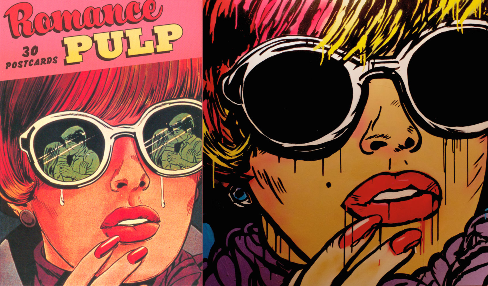 Romance Comics Pulp Postcards Romance Comic Books