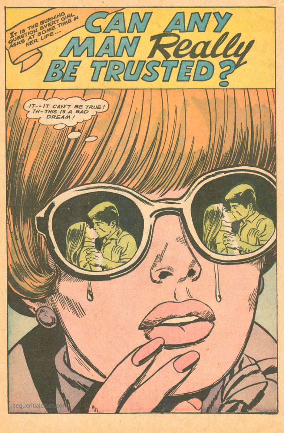 Can any man really be trusted romance comic book story dc comics jay scott pike