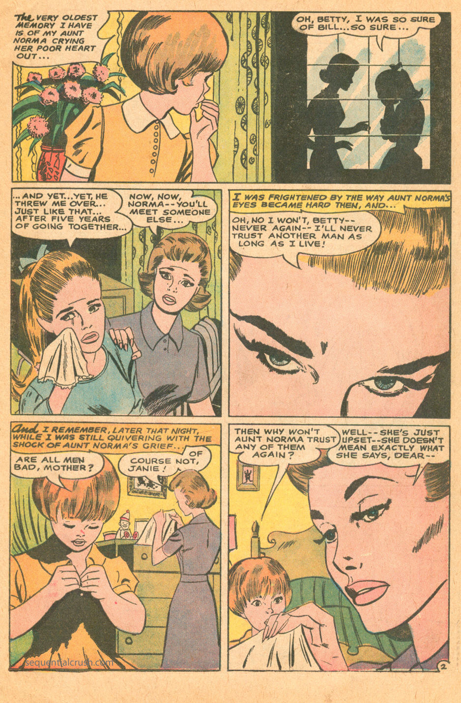 Can any man really be trusted young romance love comics dc comics jay scott pike