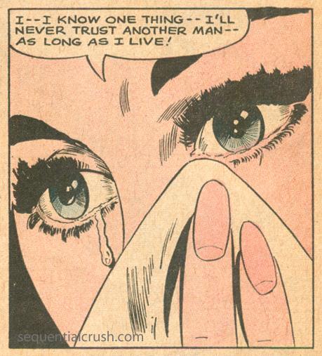 Romance Comic book tears young romance 150 jay scott pike art