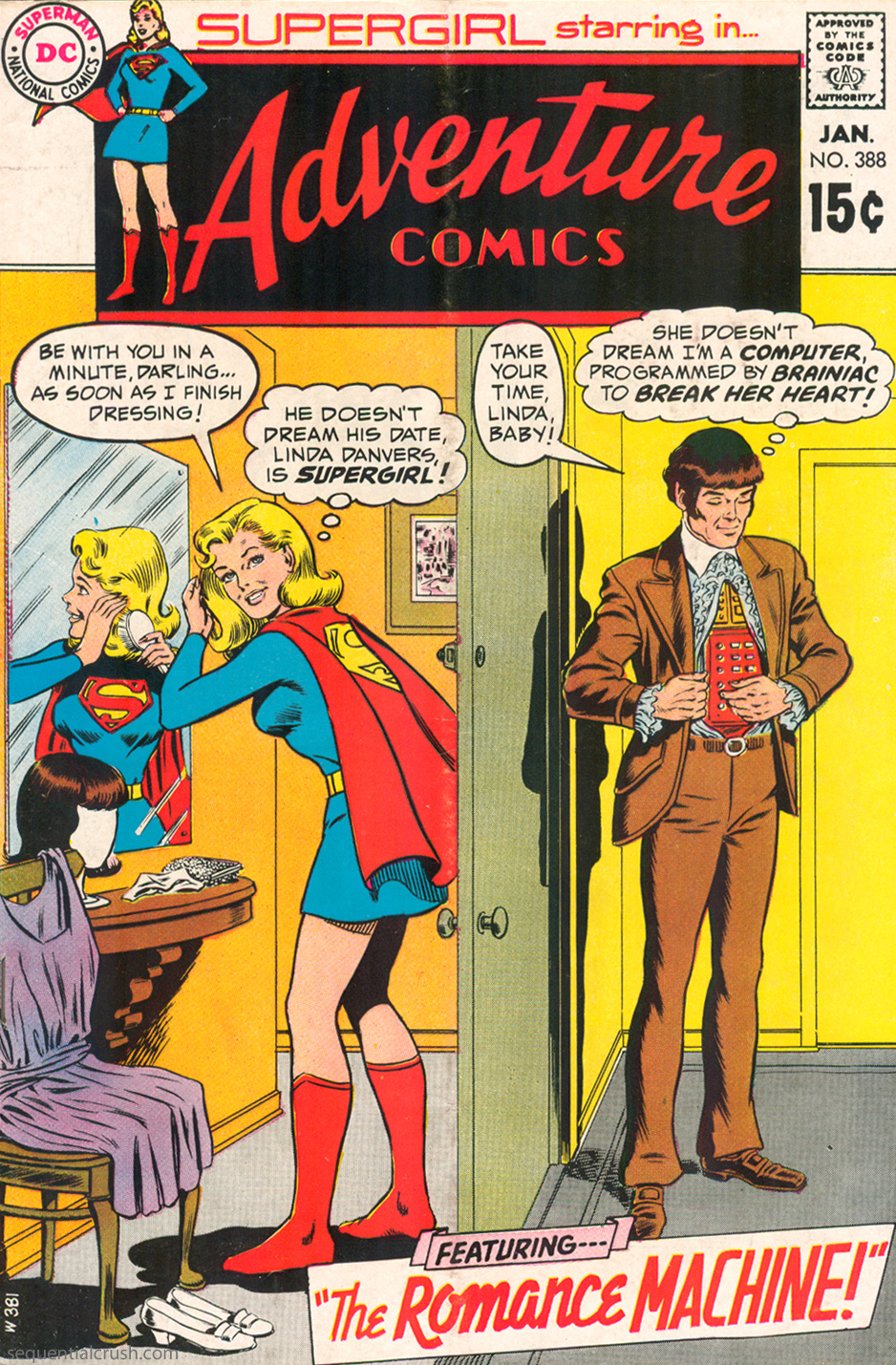 Adventure Comics  #388 (January 1970) Pencils: Curt Swan, Inks: Murphy Anderson