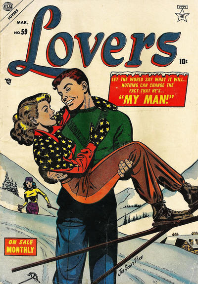 Lovers  #59 (March 1954), cover image from  GCD