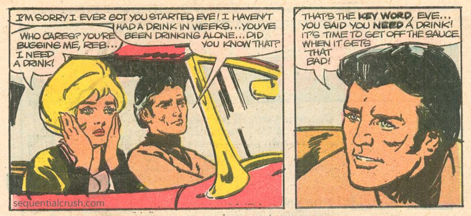 Romance comic books and serious issues alcoholism Charlton comics