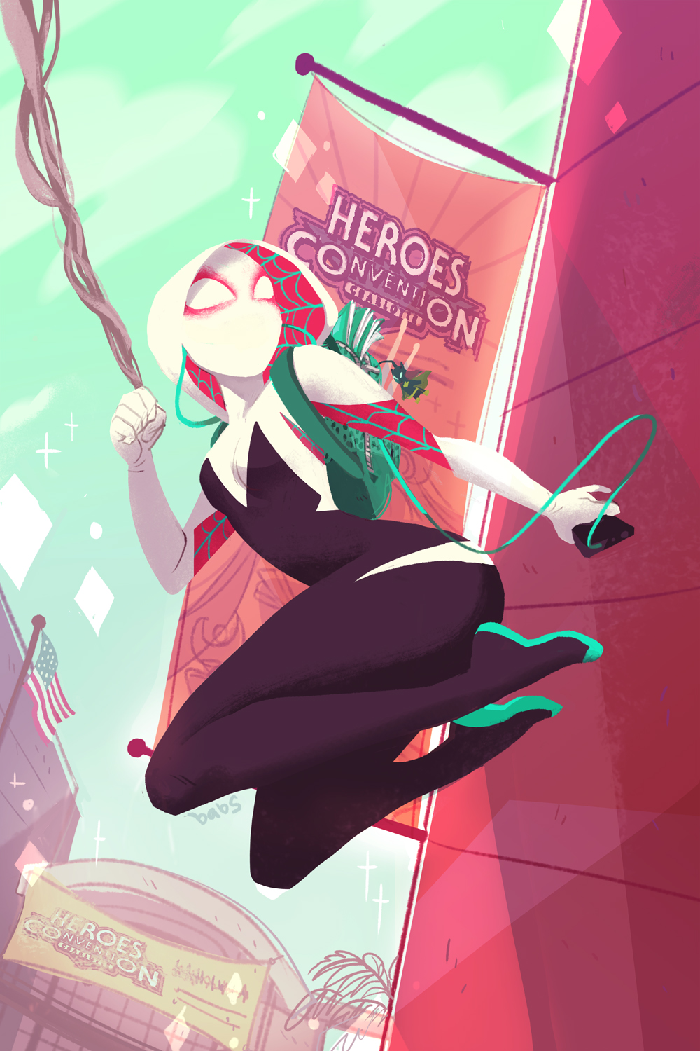 Babs Tarr  Spider-Gwen  #5 variant for HeroesCon 2015