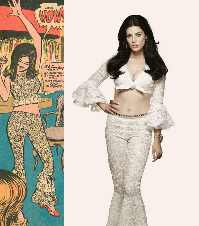 """Does the """"skimpy"""" outfit on page five look familiar?  Mad Men  Image from  Fashion Magazine ."""
