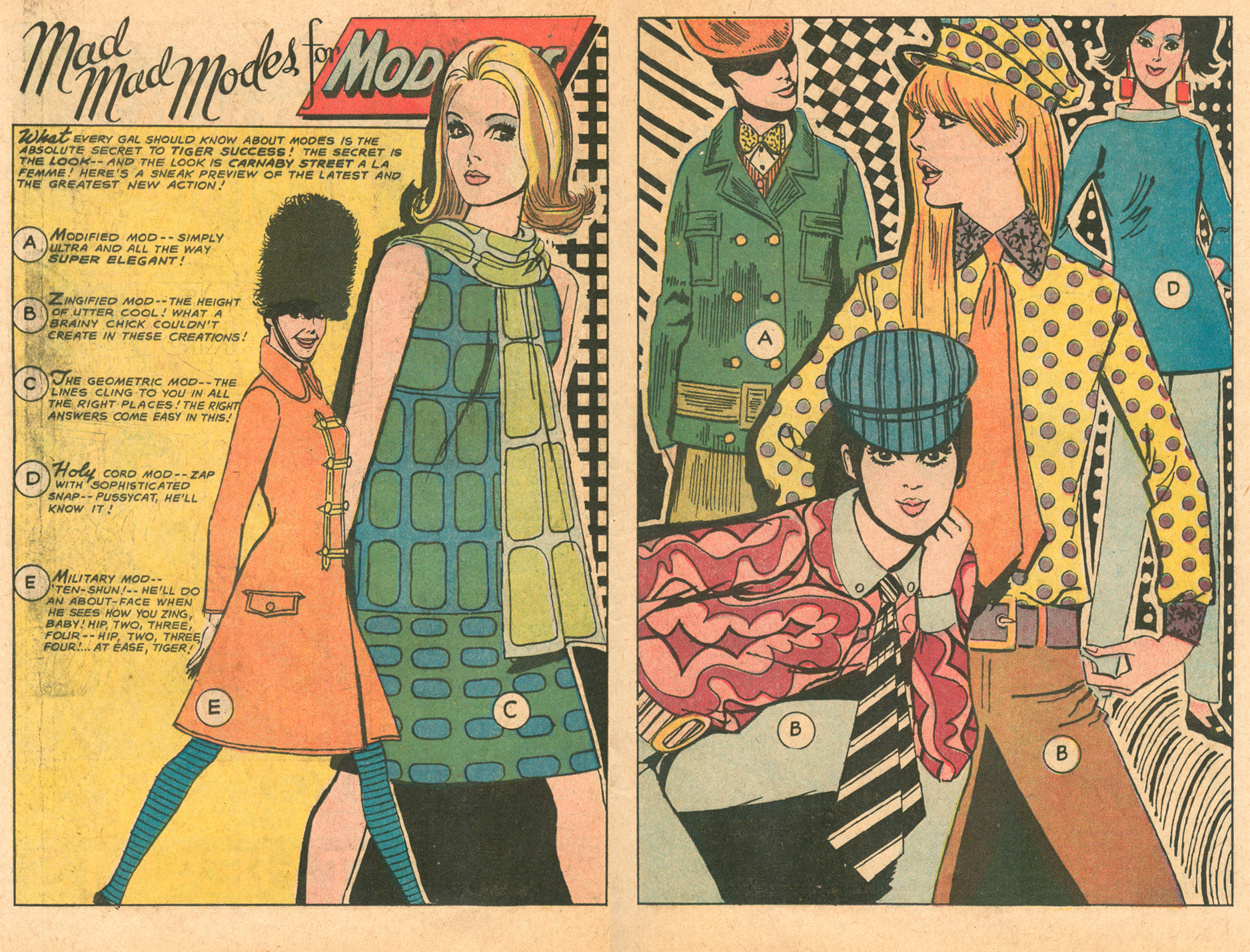 """Mad Mad Modes for Moderns""  Heart Throbs  #107 (April/May 1967)"