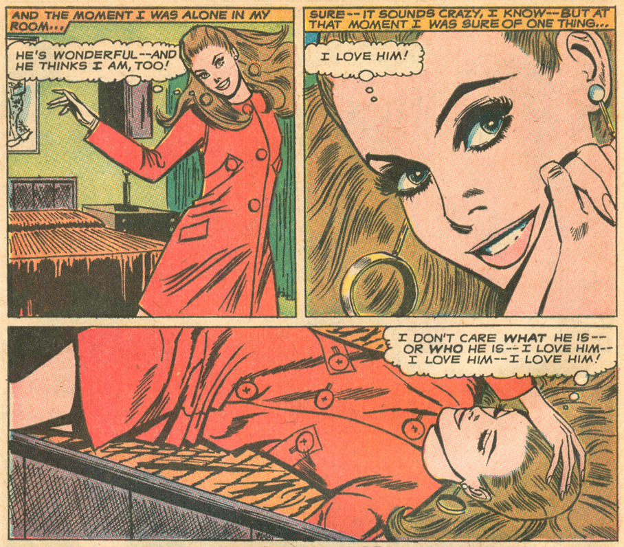 """Too Late for Love!"" Pencils: Tony Abruzzo  Young Romance  #153 (April/May 1968)"
