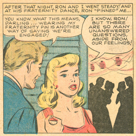 """""""A Lesson for Linda""""  Love Romances  #94 (July 1961) Pencils and Inks: Vince Colletta"""