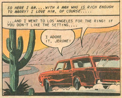 """""""A Rich Man's Kisses""""  Secret Romance  #10 (December 1970) Pencils: Charles Nicholas, Inks: Vincent Alascia"""